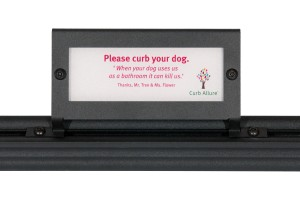 And, of course, there's always Curb Allure's classic tree guard Curb Your Dog Signs!