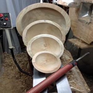 Michael Finkelstein made these beautiful nesting bowls out of Maple Leaf Forever wood. http://michaelfinkelsteinwoodturner.com/inthenews.html