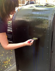 Curb Allure joins Adopt A Mailbox Program by painting a local mailbox