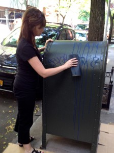 Curb Allure joins Adopt A Mailbox Program and starts sanding local mailbox