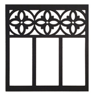 Curb	Allure metal tree guard decorative circle and picket panel