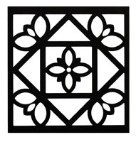 Curb	Allure metal tree guard decorative diamond panel