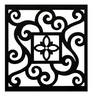 Curb	Allure metal tree guard decorative vine panel